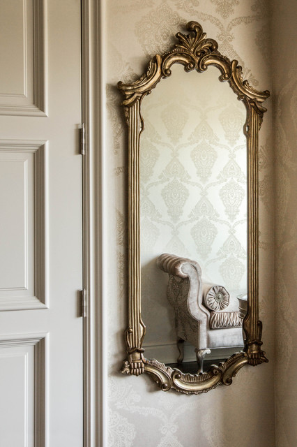Bedroom Mirror With Marge Carson Bench Traditional
