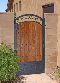 Traditional Iron and Wood Gate by First Impression ...