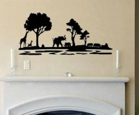 Vinyl Wall Decal, Africa Safari Scene by Wall Decals ...