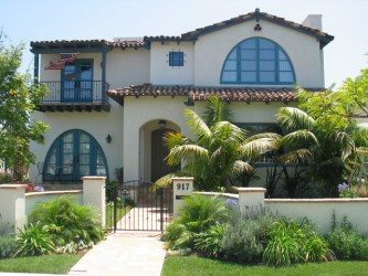 spanish mediterranean homes fence exterior colonial front arched window iron architecture windows roof interior palm decor door trim revival trees