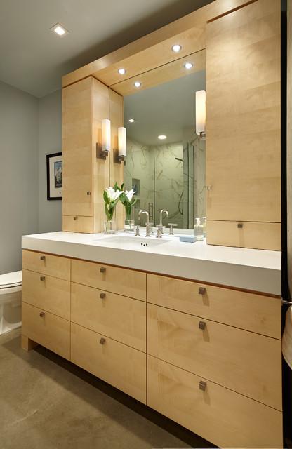Light  Airy Modern Condo Master Bath  Modern  Bathroom