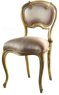 Keswick Oval Silk Bedroom Chair - Traditional - Armchairs ...