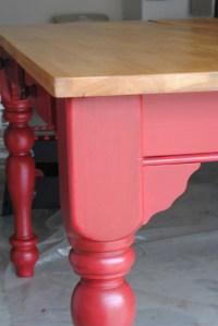 Red Kitchen Table - Farmhouse - atlanta - by Fanci Seats ...