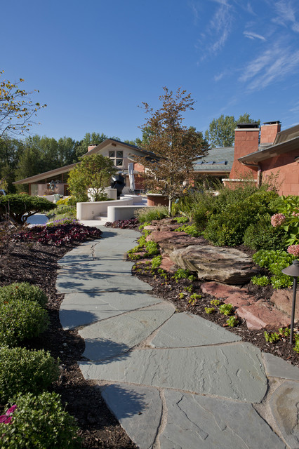 high-end residential landscape