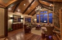Walnut Cove NC Rustic Mountain Home rustic-living-room