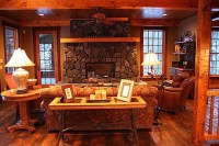 Cottage and Lodge Style - Craftsman - Living Room ...