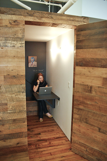 Phone BoothCoat Room  Modern  Closet  new york  by red