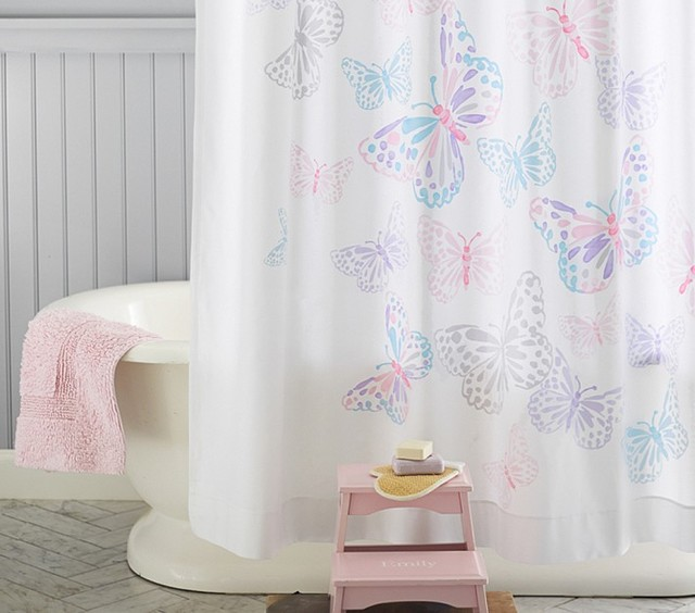 Butterfly Shower Curtain  Shower Curtains  san francisco