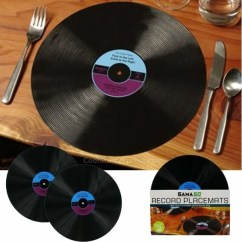 Wine Themed Kitchen Accessories Equipment Repair Vinyl Record Dinner Placemats - Contemporary ...