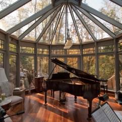 Kitchen Greenhouse Window Semi Custom Cabinets Woodland Retreat - Interior Aluminum Conservatory ...