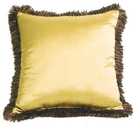 Silk Suede with Tassels 20 x 20 Throw Pillow with Brush