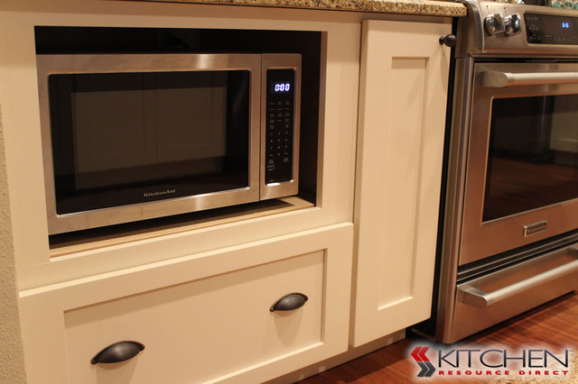 Microwave in Base Cabinet  Transitional  Kitchen  other