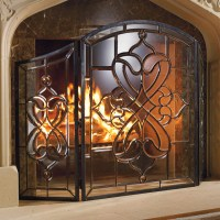 Isla Glass Fireplace Screen - Traditional - Screens And ...