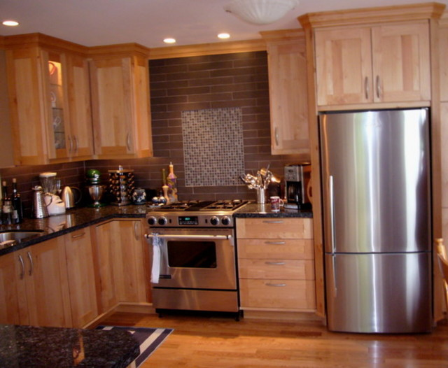 Kitchen Cabinets in Western Maple by Tolka Millwork  Cabinet  Traditional  Kitchen Cabinetry