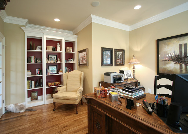 French Country Traditional Home Office Charlotte