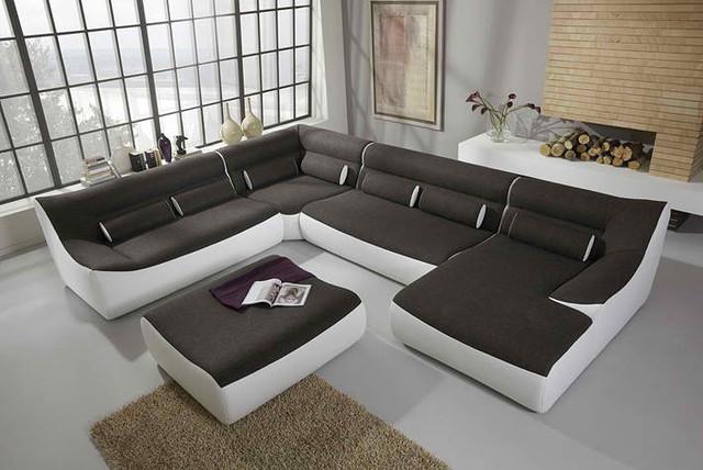 decorative pillows brown leather sofa kilim cushion angelo modular - contemporary sectional sofas ...