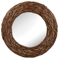 Round Twig Mirror - Rustic - Wall Mirrors - by Pizzazz ...