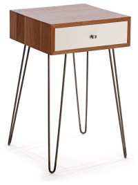 Newton Nightstand, Walnut/White - Midcentury - Nightstands ...