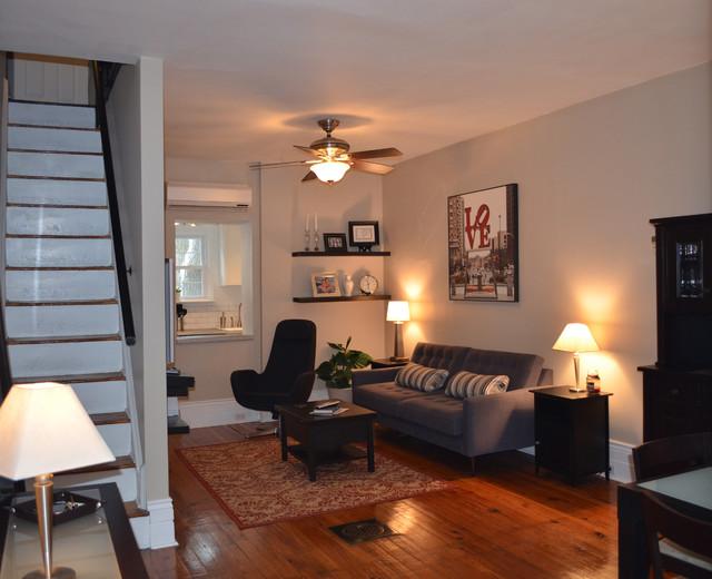 Fairmount Row Home  Contemporary  Living Room