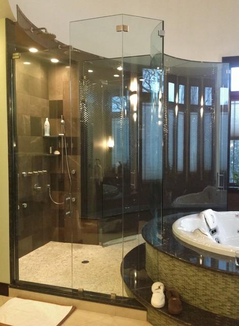 Custom Shower Doors  Modern  Bathroom  chicago  by