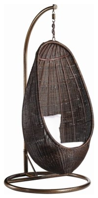 Hanging Wicker Egg Chair With Stand
