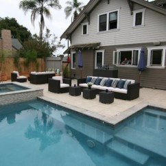 Kitchen Bay Window Treatments Grey Cabinet Ideas New Pool Design - Modern San Diego