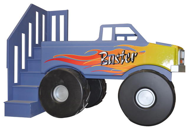 Monster Truck Loft Bed Traditional Kids Houston By