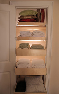 bar chairs concrete dark walnut dining airing cupboard / linen closet
