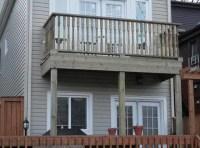 2nd floor balcony deck in Cabbagetown, Toronto
