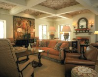 Spanish Style Great Room - Mediterranean - Living Room ...
