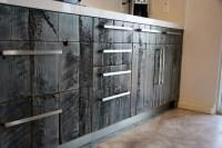 Barn Lumber IKEA Kitchen - Rustic - Kitchen - los angeles ...