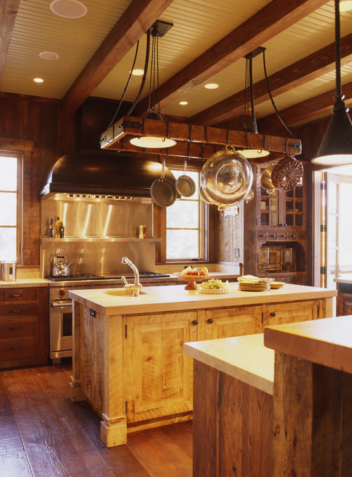 kitchen pot racks touchless faucet maximize space with abode rustic by san francisco interior designers decorators tucker marks