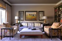 Comfortable Yet Elegant Family Room/Library - Transitional ...