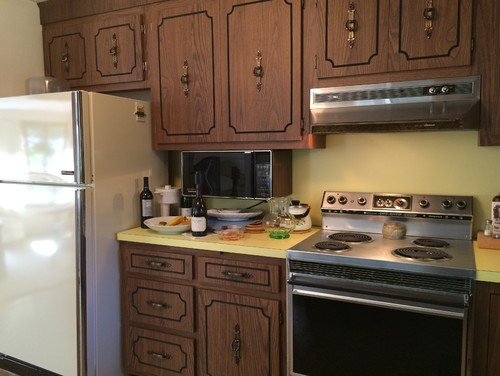 kitchen cabinet refacing cost farmhouse sink for sale painting or formica cabinets?