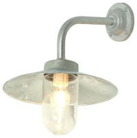 Davey Lighting Exterior Bracket Light, Galvanized Iron