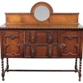 Antique oak jacobean barley twist buffet sideboard traditional buffets