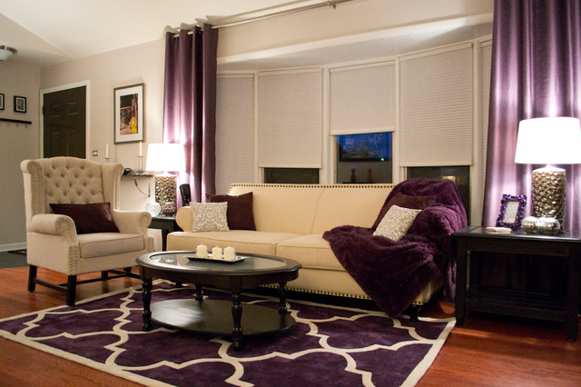 Elegant Chic Suburban Getaway  Contemporary  Living Room
