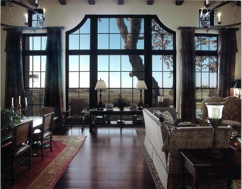 Black window frames via Houzz