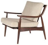 Adam Chair, Walnut Dark/Sand - Midcentury - Armchairs And ...