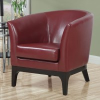 Dwyn Red Leather Accent Chair - Contemporary - Living Room ...