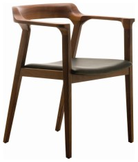 Katelyn Mid Century Modern Brown Walnut Leather Dining Arm ...