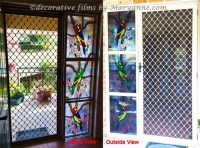 Installed stained glass door films I've done - Tropical ...