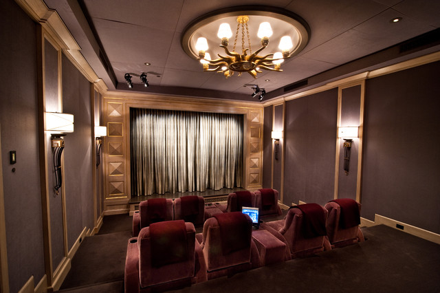 Home Theater  Traditional  Home Theater  los angeles  by Interior Technologies