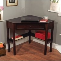 Simple Living Espresso Corner Writing Desk - Contemporary ...