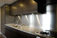 Mira Stainless steel Backsplash kitchen panel