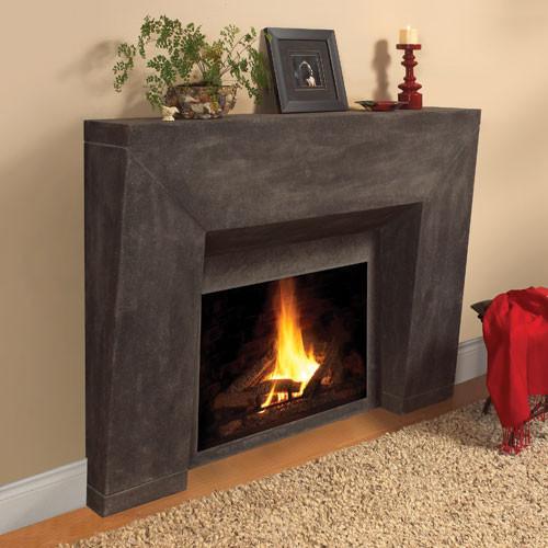 Milano Stone Fireplace Mantel