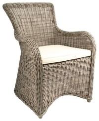 Krista Outdoor Armchair, Gray Kubu Rattan Wicker ...