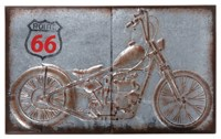 Metal Route 66 Motorcycle Wall Plaque - Eclectic - Artwork ...
