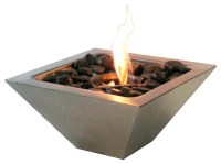 Indoor/Outdoor Empire Stainless Tabletop Fireplace with ...
