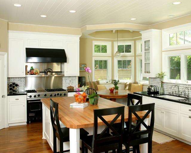 Newport Beach Plantation Style Traditional Kitchen